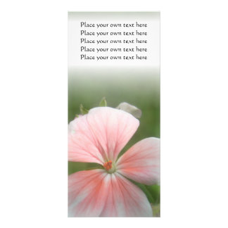 Pink flower bookmark you can Customize Rack Card