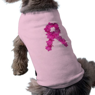 Pink Flower Breast Cancer Awareness Ribbon Shirt