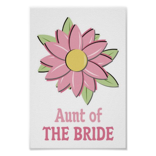 Pink Flower Bride Aunt Print