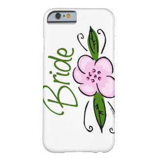 Pink Flower Bride Barely There iPhone 6 Case