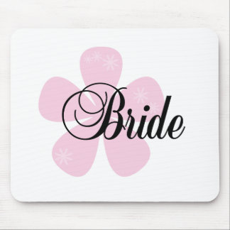 Pink Flower Bride Mouse Pad