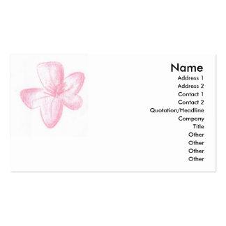 Pink flower business card template