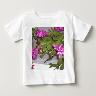 Pink Flower Cactus Baby T-Shirt