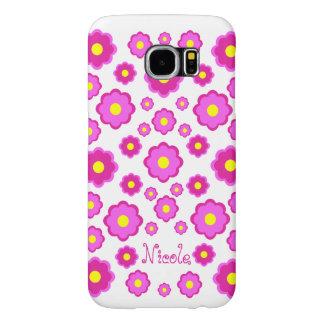 pink flower samsung galaxy s6 cases