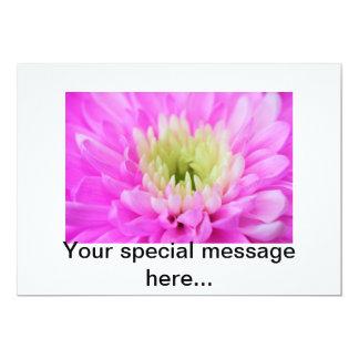 "Pink Flower Closeup 5"" X 7"" Invitation Card"
