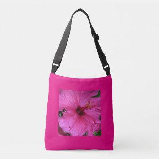 Pink Flower Custom  Cross Body Bag