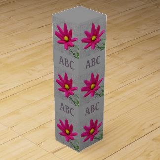 Pink Flower custom monogram wine box