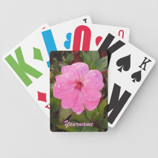 Pink Flower custom playing cards