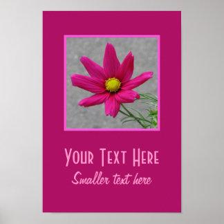 Pink Flower custom poster