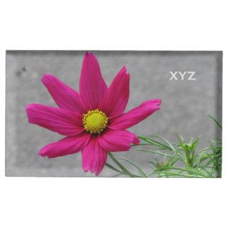 Pink Flower custom table card holder