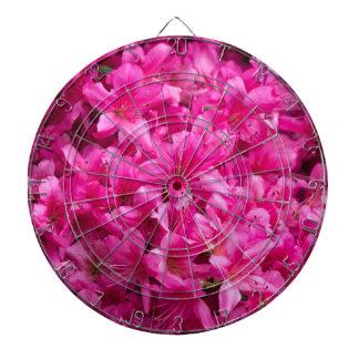 pink flower dartboard
