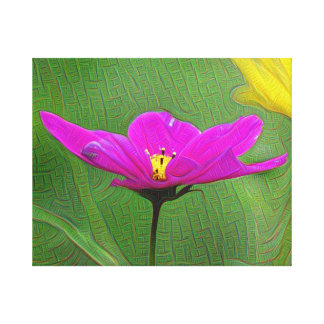 Pink Flower, DeepDream style Stretched Canvas Prints