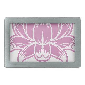 Pink Flower Design Concept Icon Belt Buckle