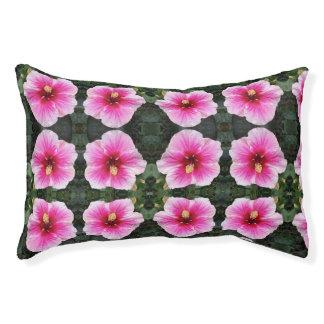 pink flower dog bed