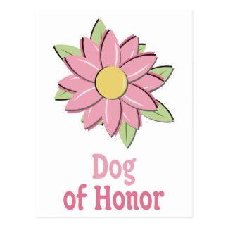 Pink Flower Dog of Honor Postcard
