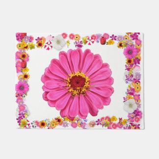 PINK FLOWER DOORMAT