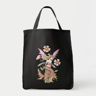 Pink Flower Fairy Tote Bag by Molly Harrison