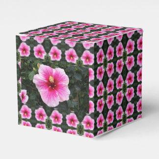 pink flower favor box