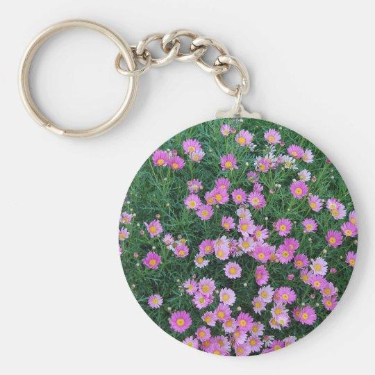 Pink Flower Field Keychain