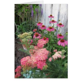 Pink Flower Garden Card