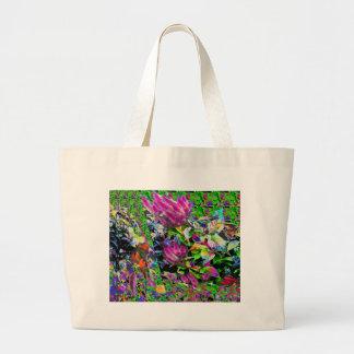 Pink Flower Garden Jumbo Tote Bag