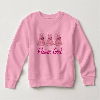 Pink Flower Girl Dress Bridal Party Sweatshirt