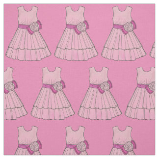 Pink Flower Girl Dress Bridal Party Wedding Fabric