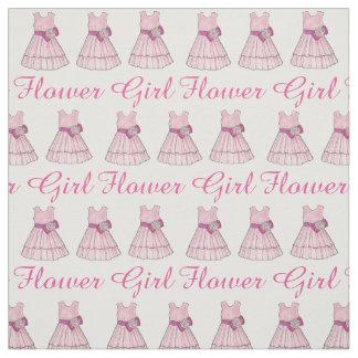 Pink Flower Girl Dress Bridal Party Wedding Fabric