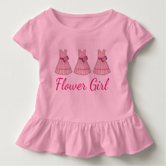 Pink Flower Girl Dress Bridal Party Wedding Tee