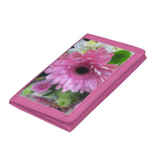 pink flower girls  wallet