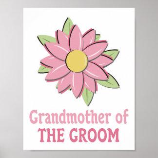 Pink Flower Groom Grandmother Print