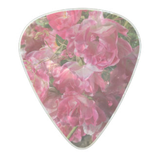 Pink Flower Guitar Pick