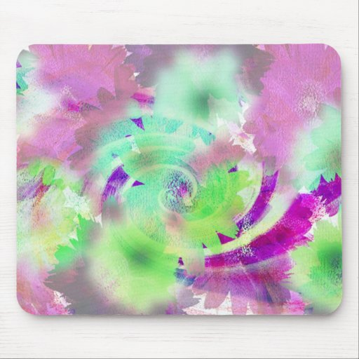 PINK FLOWER IMAGE MOUSEPAD