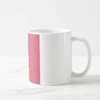 Pink flower in crystal globe coffee mug