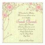Pink Flower Invitation 13 Cm X 13 Cm Square Invitation Card