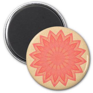Pink Flower Kaleidoscope 6 Cm Round Magnet