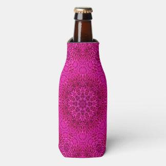 Pink Flower  Kaleidoscope   Custom Bottle Cooler