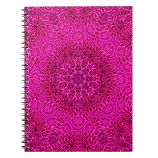Pink   Flower  Kaleidoscope  Pattern Notebooks