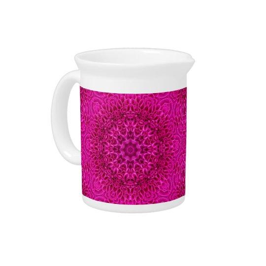 Pink Flower Kaleidoscope   Porcelain Pitchers