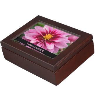 Pink Flower Keepsake Treasure Box Keepsake Boxes