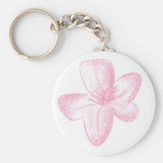 Pink flower keychains