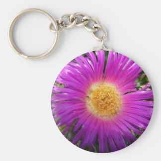 Pink Flower Key Chain