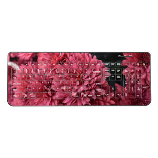pink flower keyboard