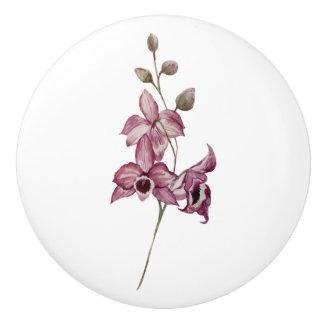 Pink Flower Knob