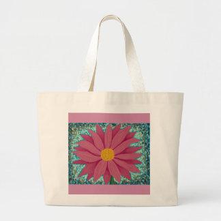 Pink Flower Large Tote Bag