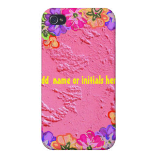 Pink Flower Lei Case For iPhone 4