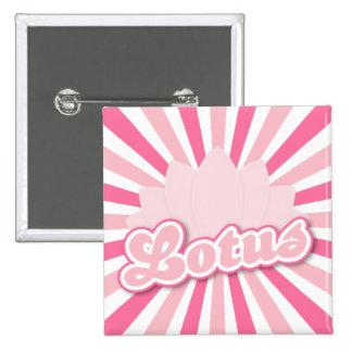 Pink Flower Lotus 15 Cm Square Badge