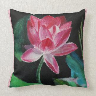 Pink Flower Lotus Throw Pillow 51 cm x 51 cm