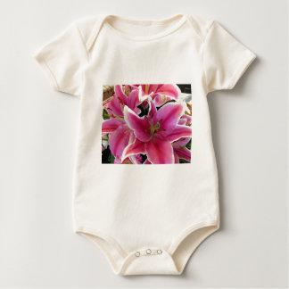 Pink flower magic baby bodysuit
