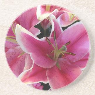 Pink flower magic coaster
